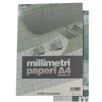 Millimetrilehtiöt Millimetrilehtiö, A4/20, -tuotekuva
