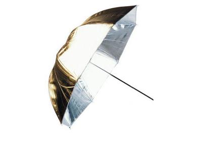 'Diffuusiovarjo, hopea/kulta, käännettävä, 84 cm'