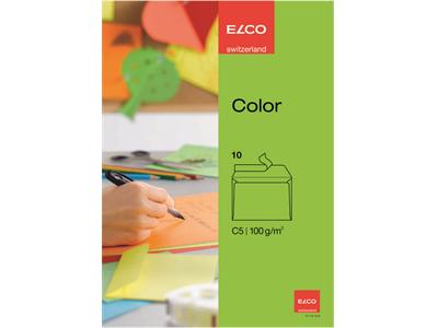 'Kirjekuori, Elco Color, Vihreä, C5 St, 1 pkt/10'