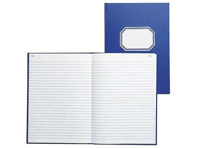 'Konttorikirja, 361, A4/192, Viivat, sininen'