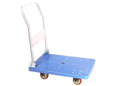 'Kuljetuskärry, 50x70, muovi, taittuvat kahva, 2 kääntyvää pyörää, sininen'