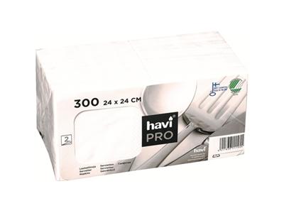 'Lautasliina, Havi Pro, 24x24 cm, valkoinen, 1 pkt/300'
