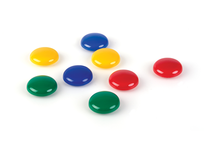 'Magneettilajitelma, 30 mm, 4 eri väriä, 1 ras/8'