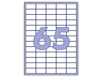'Monitoimitarra, A4, 38x21.2mm, 65 tarraa/arkki, 6500 tarraa, 1 pkt/100'