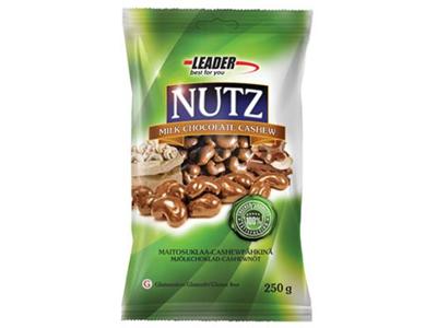 'Pähkinä, Leader Nutz, cashew maitosuklaa, 250g, gluteeniton'