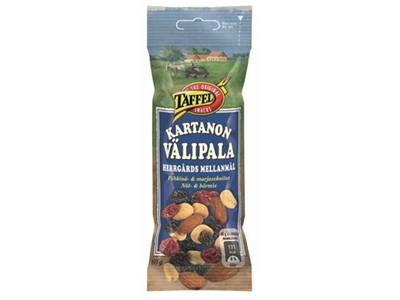 'Pähkinä-marja, Taffel Kartanon välipala, 60 g'