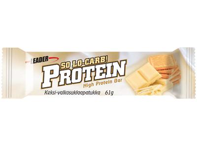'Proteiinipatukka, Leader Protein so lo carb, valkosuklaa-keksi, 61g'