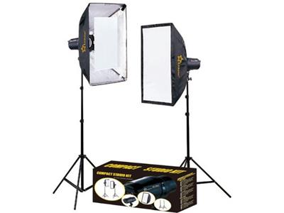 'Studiosalamasarja, Linkstar Compact MTK-2250D, 2x250 w, jalustat, diffuusiosuotimet'