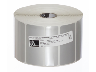 'Tarrarulla, Zebra Z-Ultimate 3000T Silver, 70x32mm, 2370 tarraa, 25mm keskiö, ulko-ø 127mm'