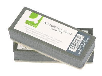 'Valkotaulupyyhin, Q-Connect Washable Whiteboard Eraser, pestävä'