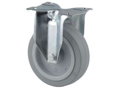 'Teollisuuspyörä, kiinteä, ⌀ 100 mm, max 160kg, harmaa elastinen'