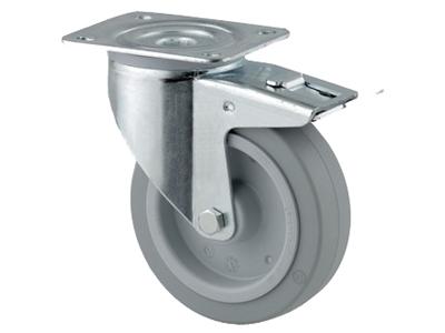 'Teollisuuspyörä, jarru, ⌀ 125 mm, max 250 kg, harmaa elastinen'