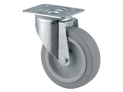 'Teollisuuspyörä, kääntyvä, ⌀ 125 mm, max 250 kg, harmaa elastinen'