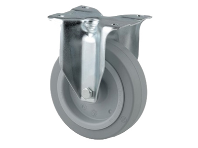 'Teollisuuspyörä, kiinteä, ⌀ 125 mm, max 250 kg, harmaa elastinen'