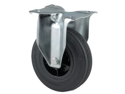 'Teollisuuspyörä, kiinteä, ⌀ 125mm, max 100kg, musta umpikumi'