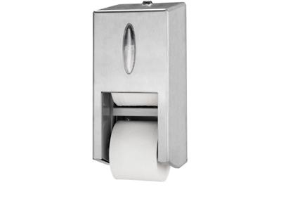 'WC-paperiannostelija, Tork Twin Mid-size hylsyttömälle WC-paperille, T7, teräs'