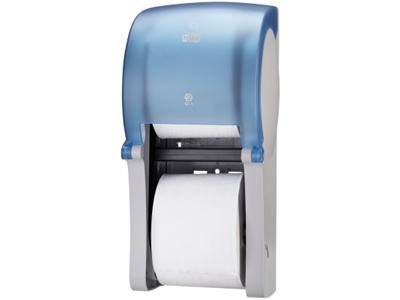 'WC-paperiannostelija, Tork Twin Mid-size hylsyttömälle WC-paperille, T7, sininen'